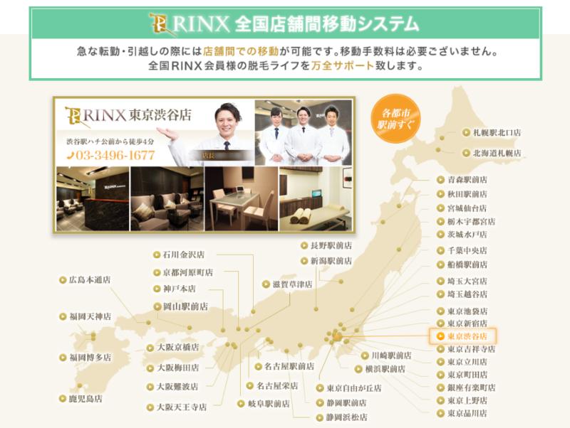 RINX(リンクス)の店舗間移動システム