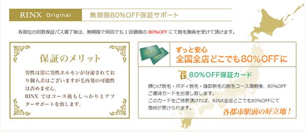 RINX(リンクス)の永久80%OFF